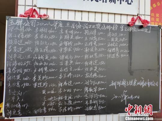 60多岁的原新邵县潭府乡合辉村村民侯连秀搬至潭府新城后在附近的猕猴桃基地做零工,2018年8月赚了920元。 王昊昊 摄