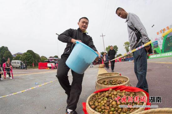 村民喜获丰收。
