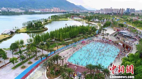 资料图,东江城市公园。郴州宣传供图