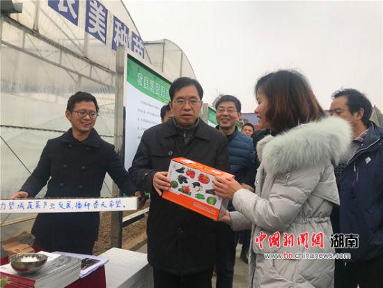 邹学校向望城农企赠送蔬菜种子。