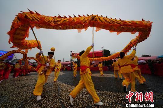 舞龙表演。 长沙县供图 摄