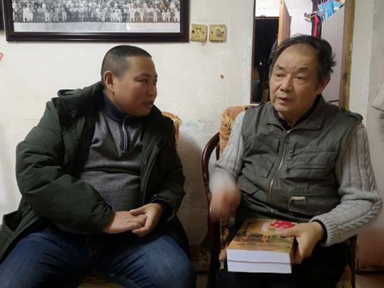 刘明采访湘西王陈渠珍之子陈晏生。