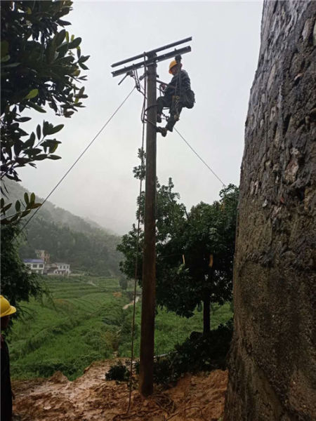 株洲县供电公司紧急启动力保全区供电