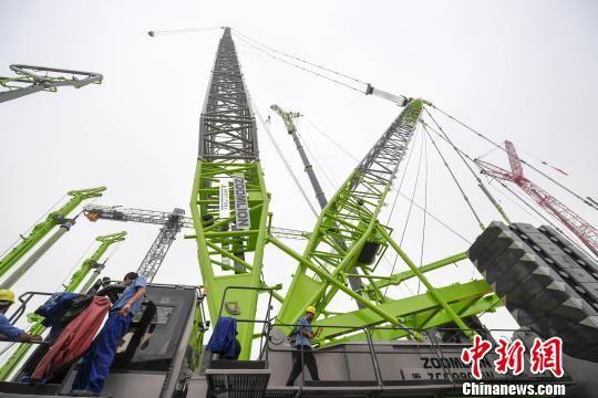 中联重科参加2019长沙国际工程机械展览会。 杨华峰 摄