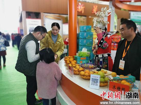 博览会展出各类怀化原产地扶贫产品。