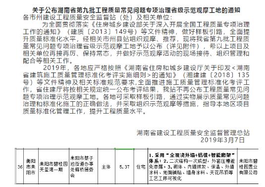 碧桂园湖南区域全年获62项政府标杆奖 长兴府项目获国家级大奖
