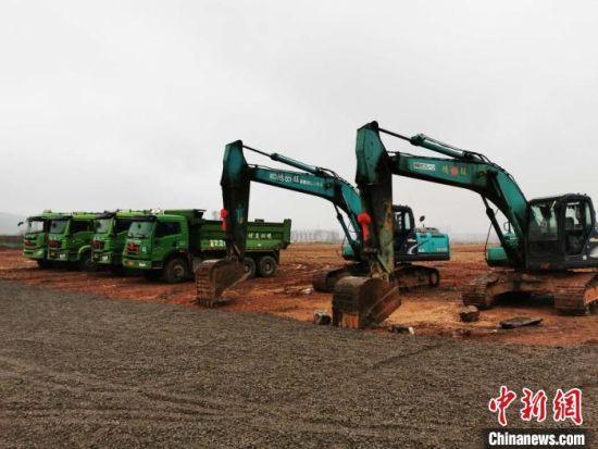 3月3日,湖南省郴州市70个重大产业项目集中开工。郴州市委宣传部供图
