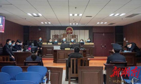 3月6日,益阳市安化县人民法院公开开庭审理一起涉野生动物保护刑事附带民事公益诉讼案。通讯员 曾来生 廖慧 肖正兵 摄