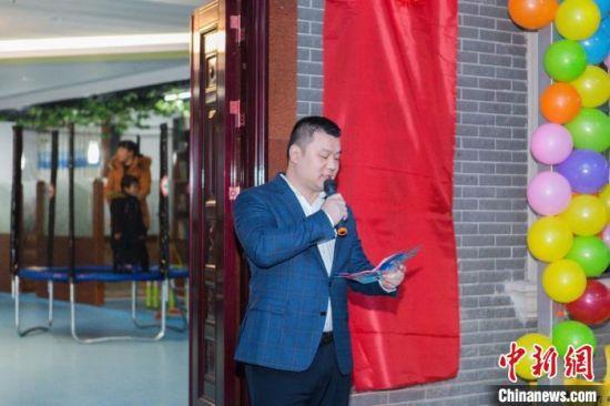 廖振参加长沙市第一社会福利院公益活动。主办方供图
