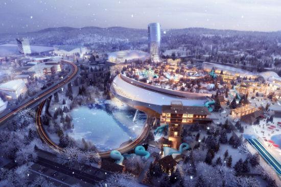 3、湘江欢乐城由湘江集团与中建五局共同投资建设,是湖南首个世界级特大创新型旅游产业项目,今年暑假将开园。(效果图)