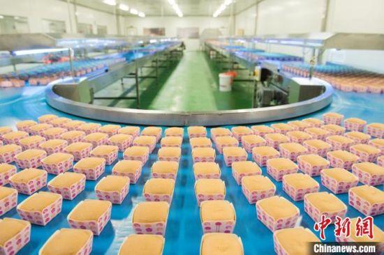 盐津铺子自动化糕点生产线。 浏阳经开区(高新区)供图