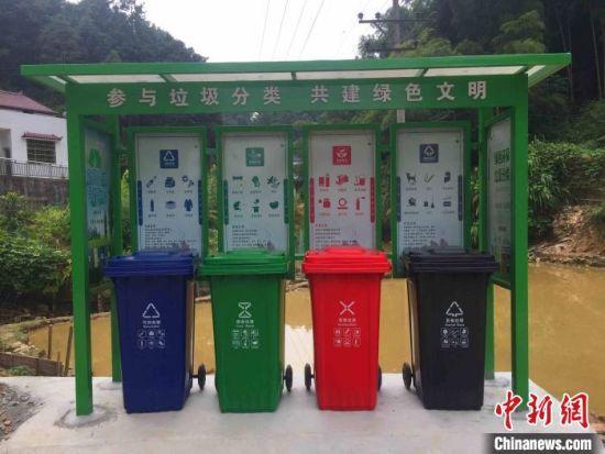 驻立�埠回族乡乡村的别致垃圾分类小站。 李胜财 摄