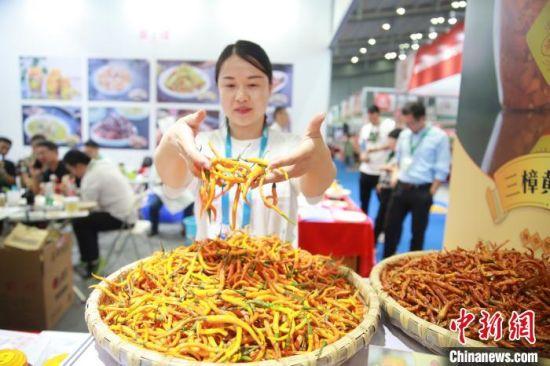 黄贡椒展示。 衡东县委宣传部供图