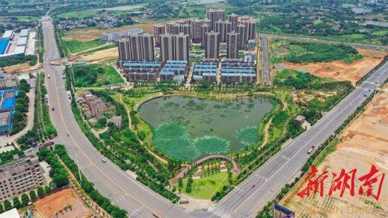 7月24日,湘潭市岳塘区,竹埠港老工业区重点建设项目荪湖生态公园绿意盎然。湖南日报・华声在线记者 辜鹏博 摄