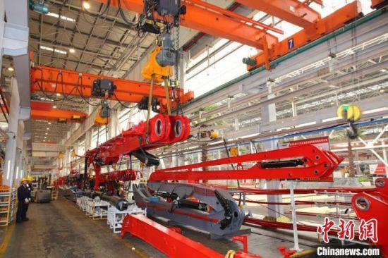 三一重工智能化工厂。三一重工供图