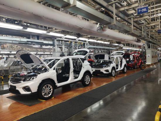吉利汽车湘潭制造基地的汽车。 唐小晴 摄