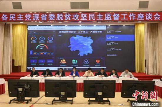 2019年5月,脱贫攻坚民主监督工作座谈会召开。湖南省委统战部供图