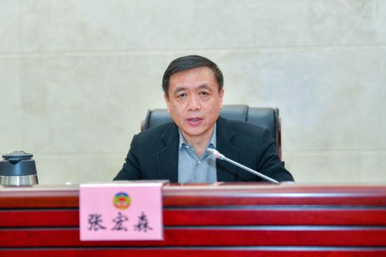 湖南省委常委、省委宣传部部长张宏森在会上讲话。