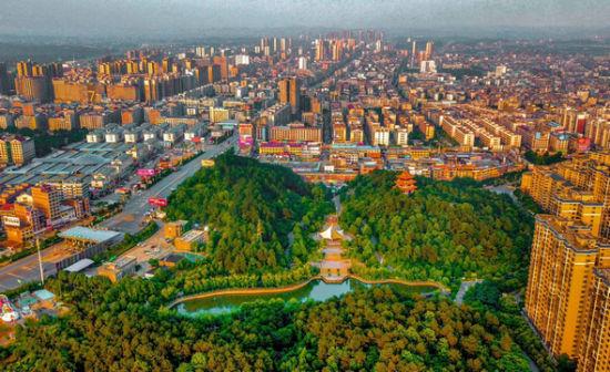 邵东市城区鸟瞰。