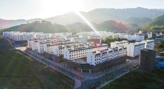 桂东县沙田镇周江易地扶贫搬迁集中安置点。桂东县委宣传部供图