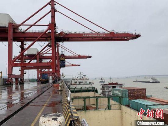 岳阳城陵矶新港区,11.9公里长江岸线统一经营管理。 杨华峰 摄
