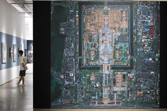 2010年摄影作品《鸟瞰――介质的袭击》系列紫禁城。