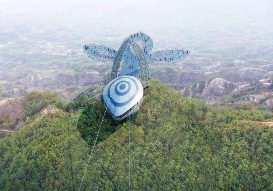 南首个悬崖玻璃观景平台将落户平江石牛寨。