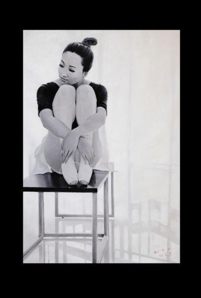 金春坤/功勋艺术家金春坤作品《芭蕾舞女孩儿》