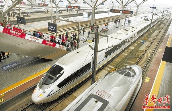 全国铁路实行新运行图  长沙增开16对高铁7对普铁