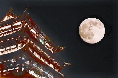 天空/十五的月亮升上天空
