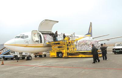 这标志邮政航空长沙—武汉—南京航线正式开通,我省没有全货运飞机