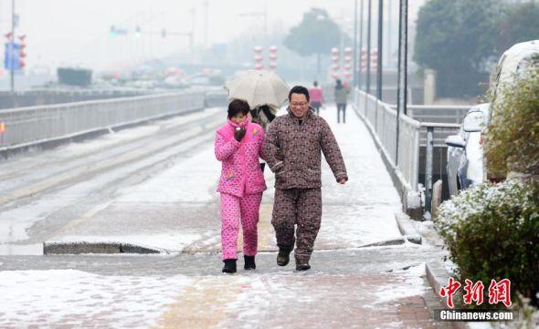 长沙迎马年首场降雪
