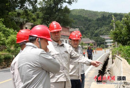 国网衡阳供电公司:洪水退了电通了