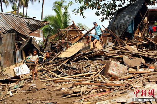 """热带风暴""""天鹰""""重创菲律宾 联合国将助40万灾民"""