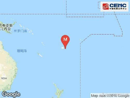 斐济群岛地区发生7.8级地震 震源深度640千米
