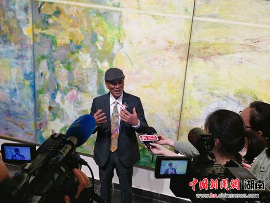 台湾画家洪政东大型个展在最新白菜网送彩金长沙开展