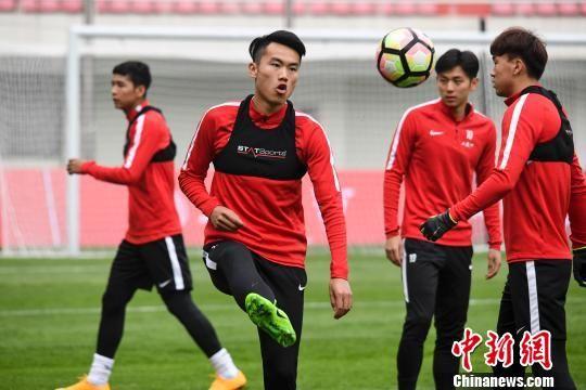 中国足协U-21选拔队长沙公开训练